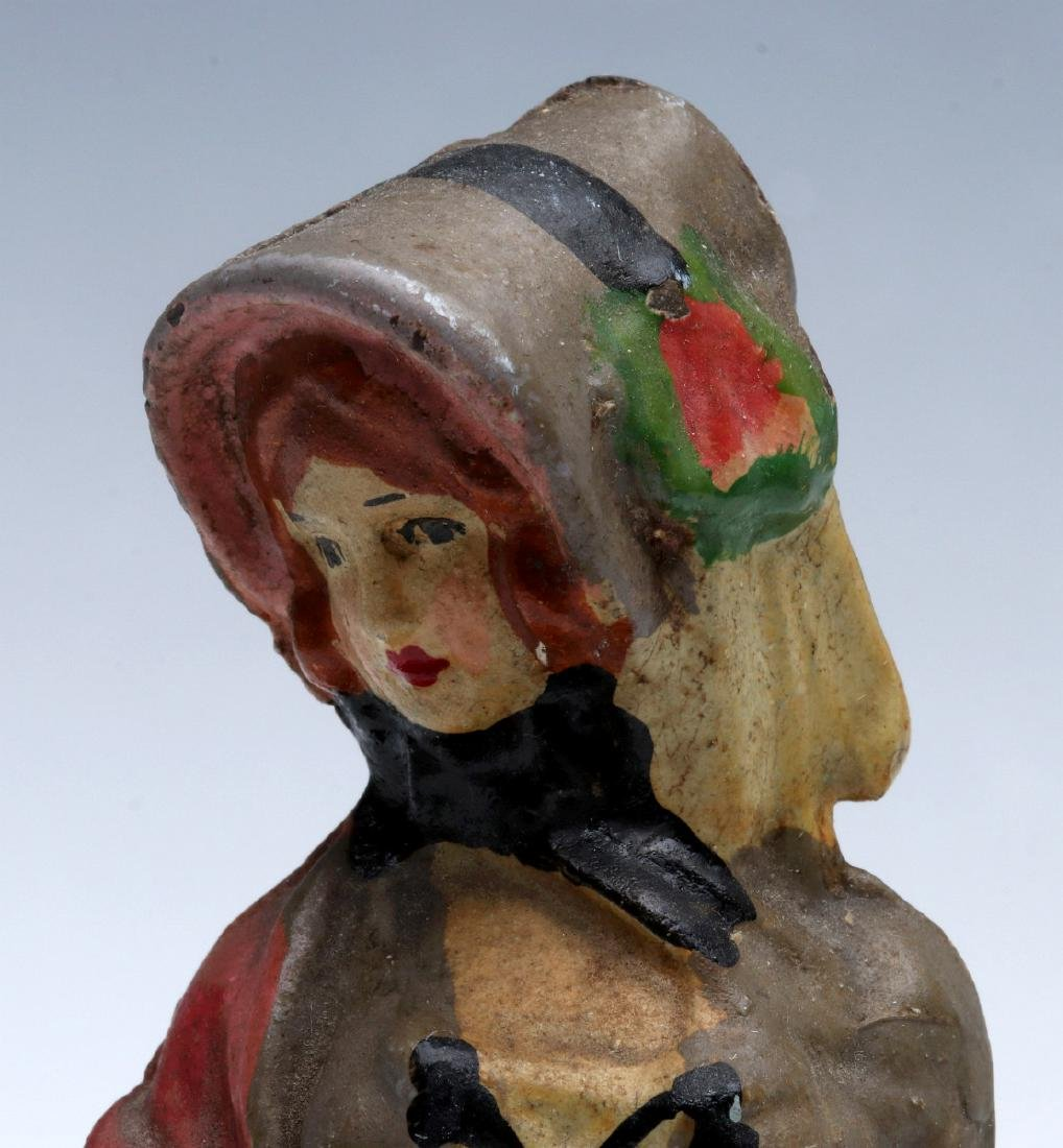 NATIONAL FOUNDRY VICTORIAN LADY CAST IRON DOORSTOP - 3