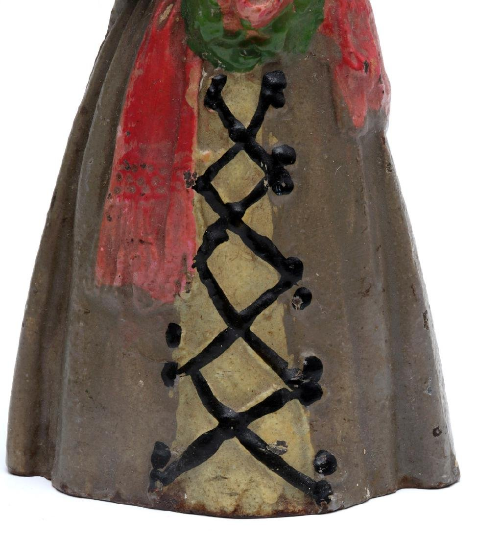 NATIONAL FOUNDRY VICTORIAN LADY CAST IRON DOORSTOP - 5