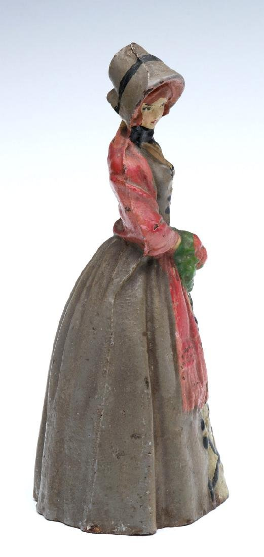 NATIONAL FOUNDRY VICTORIAN LADY CAST IRON DOORSTOP - 8