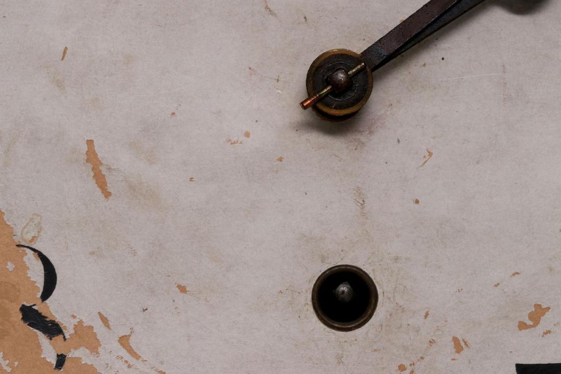 A WATERBURY SHORT DROP SCHOOLHOUSE CLOCK - 10
