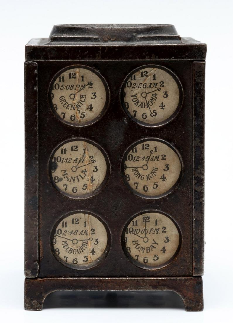 A WASHINGTON WORLD CLOCKS STILL BANK, CIRCA 1890 - 5