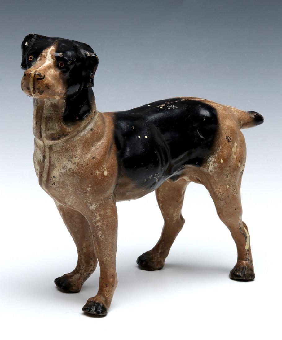 A HUBLEY CAST IRON DOG DOORSTOP