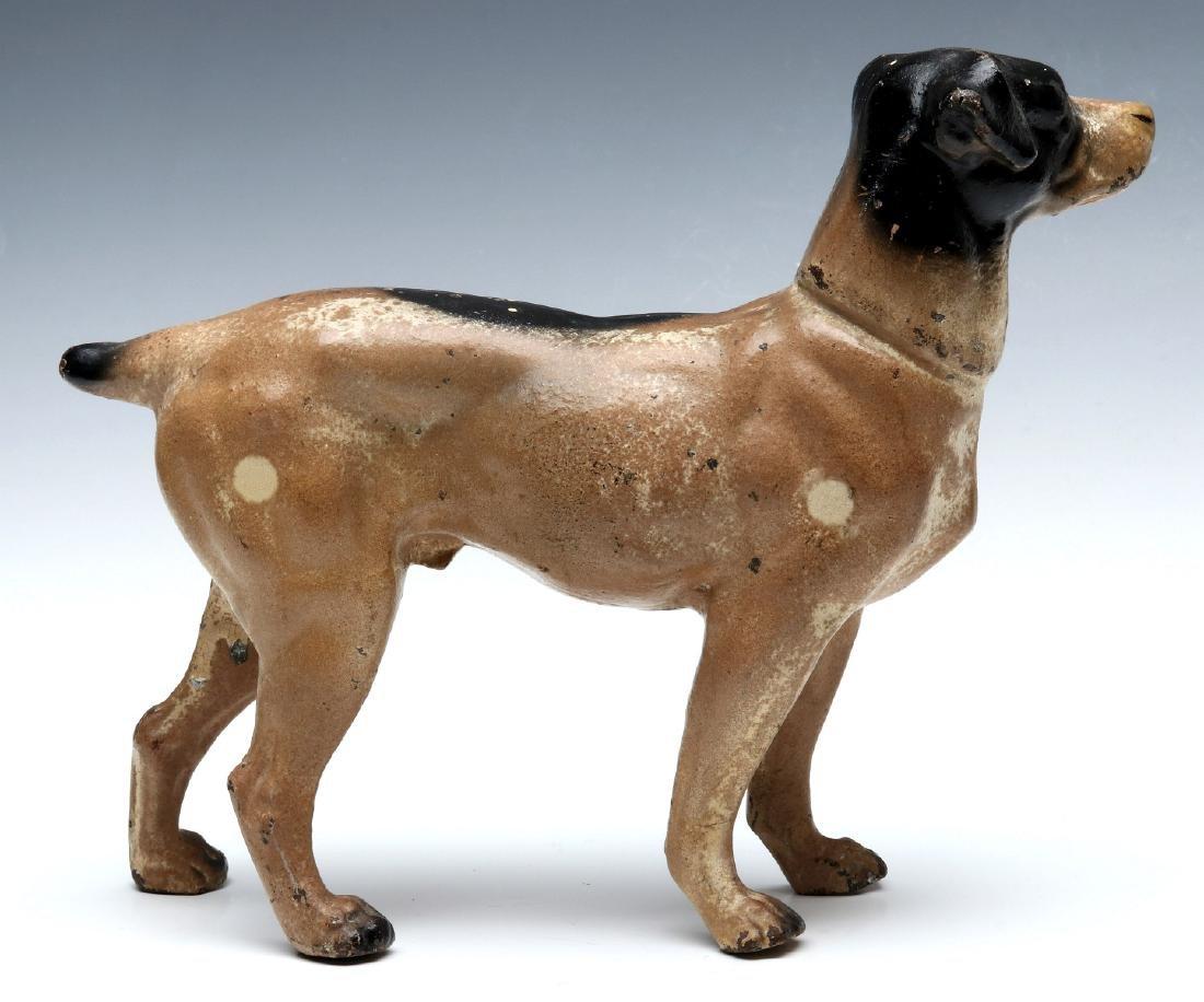 A HUBLEY CAST IRON DOG DOORSTOP - 7
