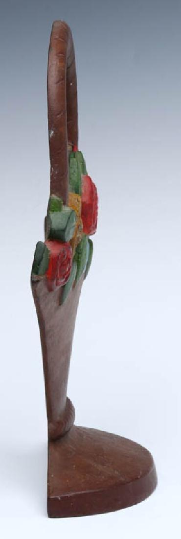 A HUBLEY MIXED FLOWER BASKET DOORSTOP NO. 3 - 8