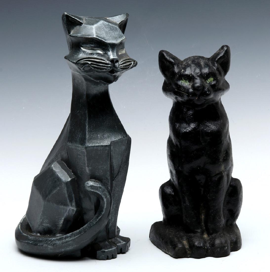 TWO MID-20TH CENTURY CAT DOORSTOPS