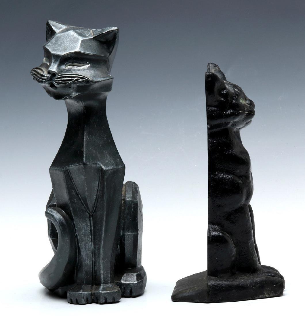TWO MID-20TH CENTURY CAT DOORSTOPS - 3