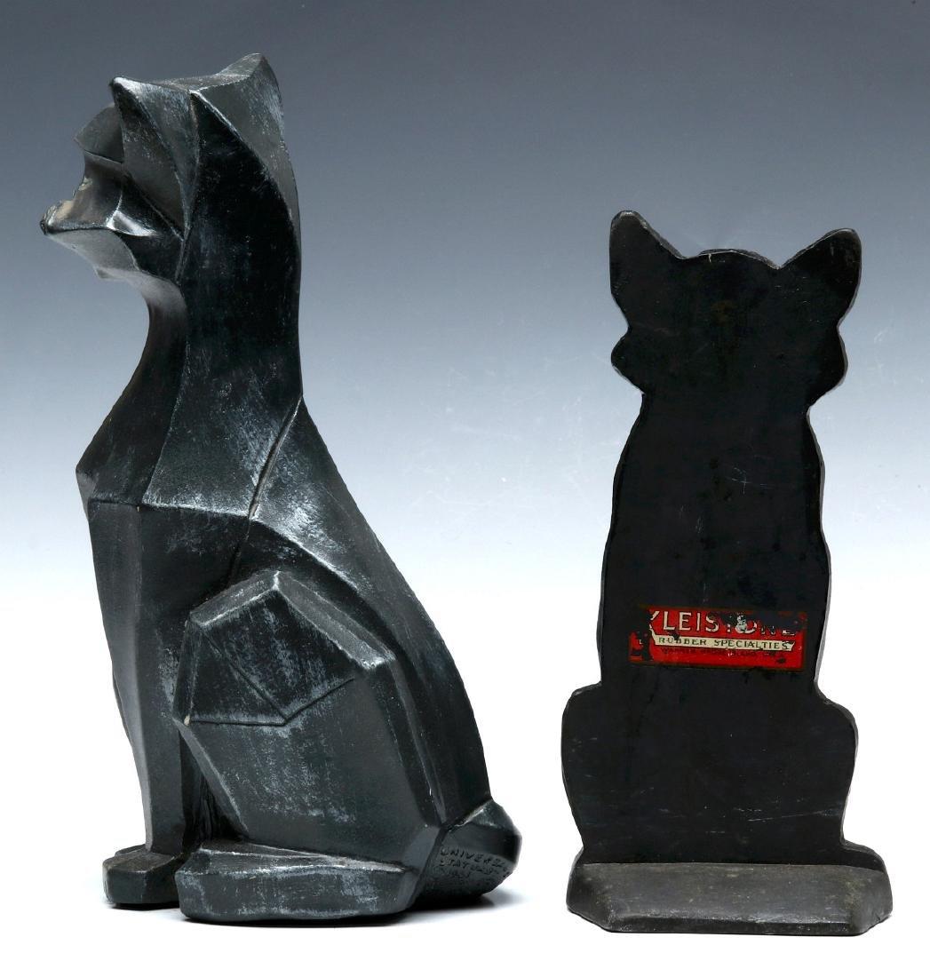 TWO MID-20TH CENTURY CAT DOORSTOPS - 4
