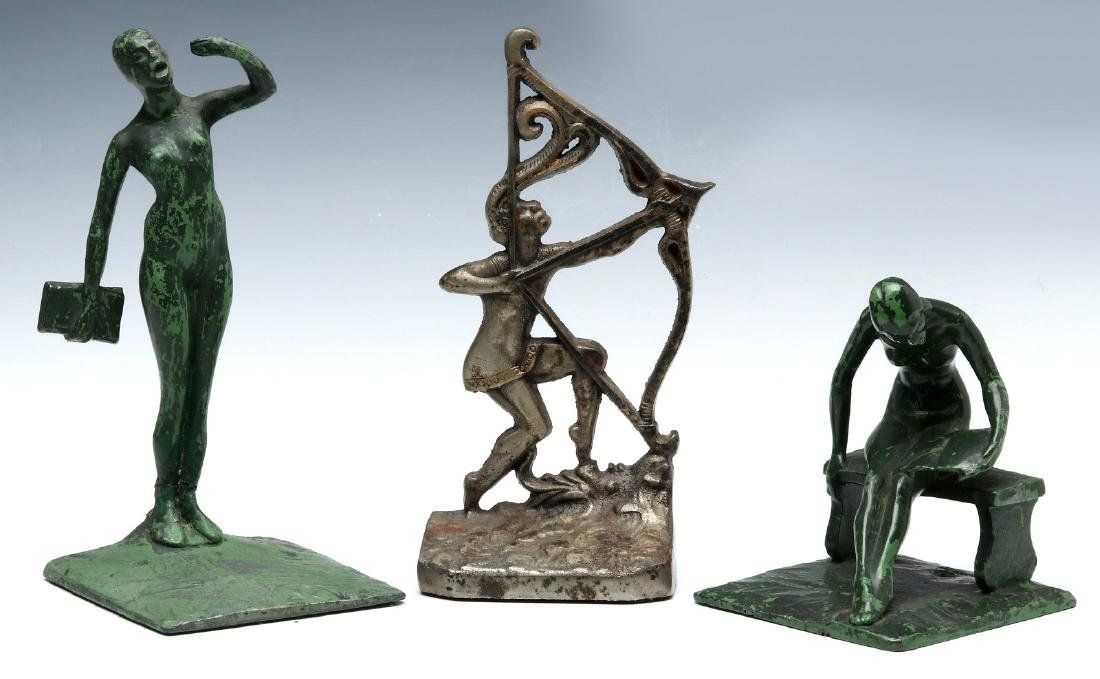 THREE UNUSUAL ART DECO BOOKENDS