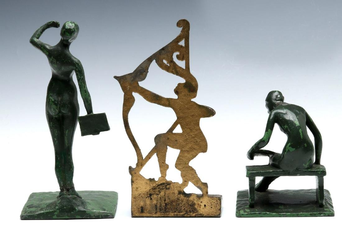 THREE UNUSUAL ART DECO BOOKENDS - 4