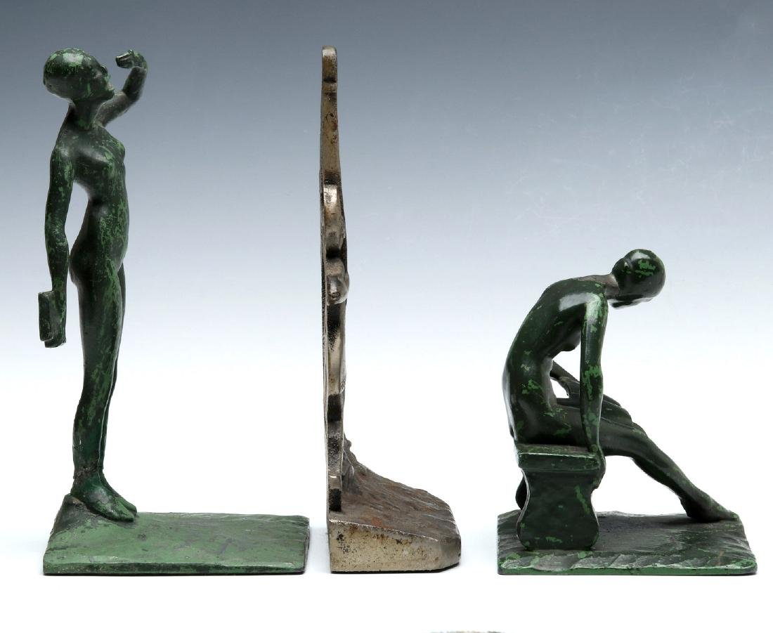 THREE UNUSUAL ART DECO BOOKENDS - 7