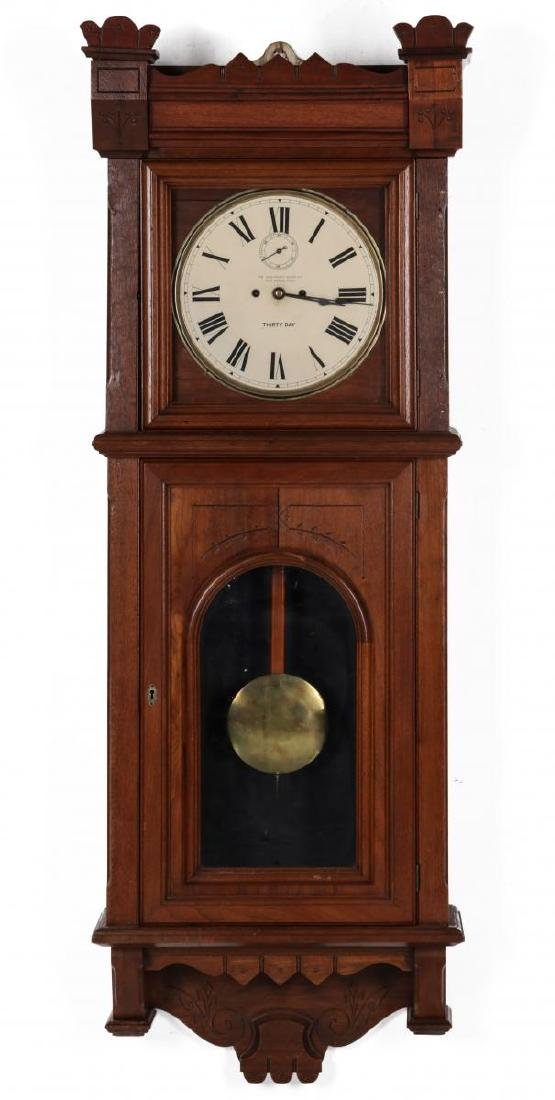 WALL CLOCK WITH NEW HAVEN MOVEMENT AND DIAL