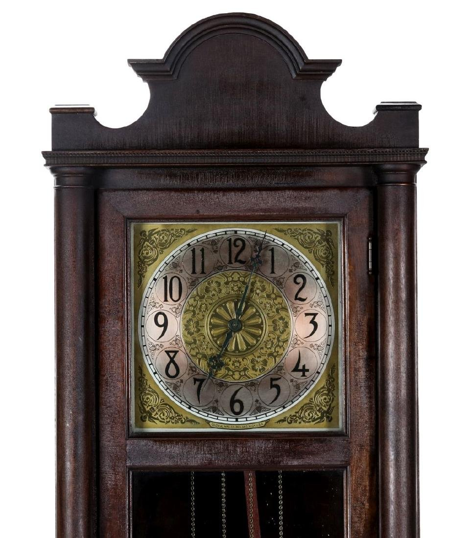 A COLONIAL MFG. GRANDFATHER CLOCK, C. EARLY 20TH C