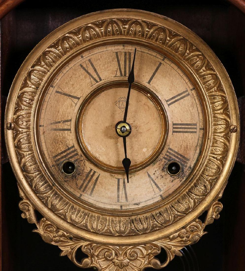 AN ANSONIA 'MONARCH' FANCY WALNUT PARLOR CLOCK - 8