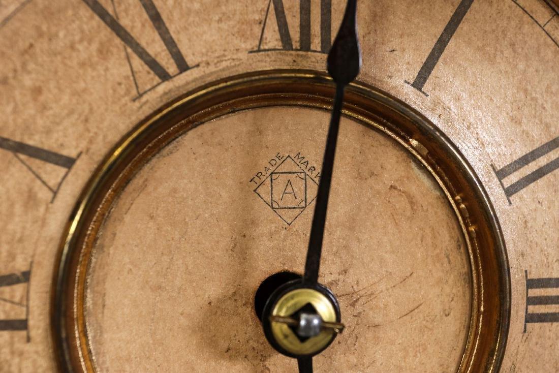 AN ANSONIA 'MONARCH' FANCY WALNUT PARLOR CLOCK - 9