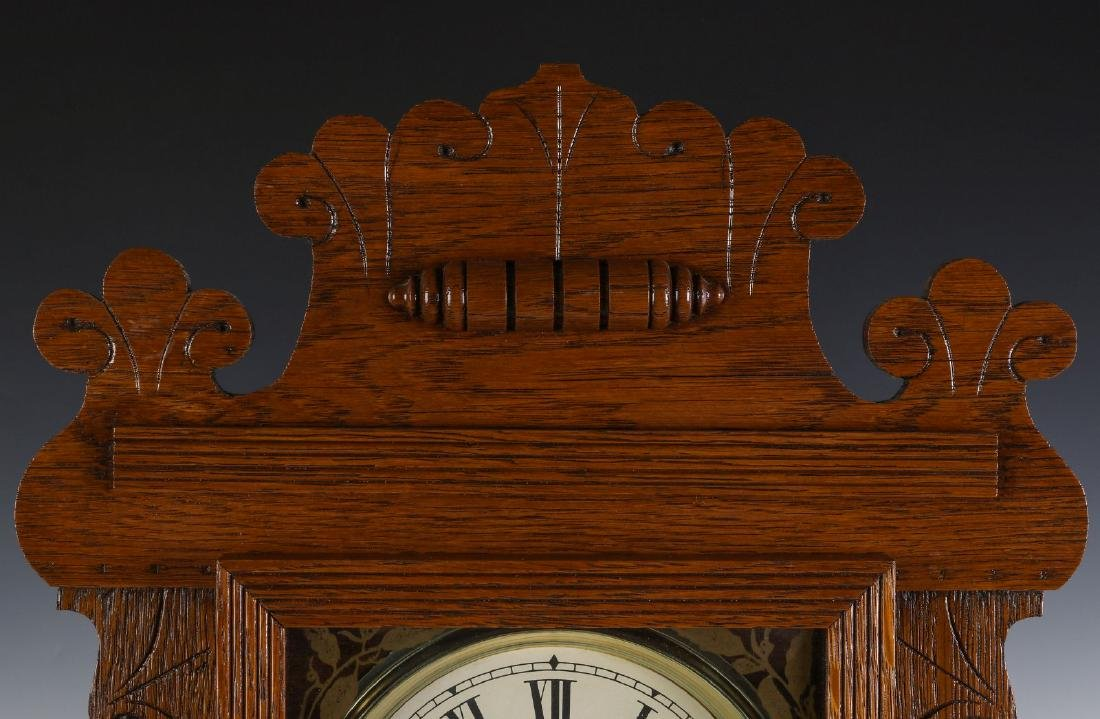 A KITCHEN GINGERBREAD CLOCK ATTRIBUTED E.N. WELCH - 2