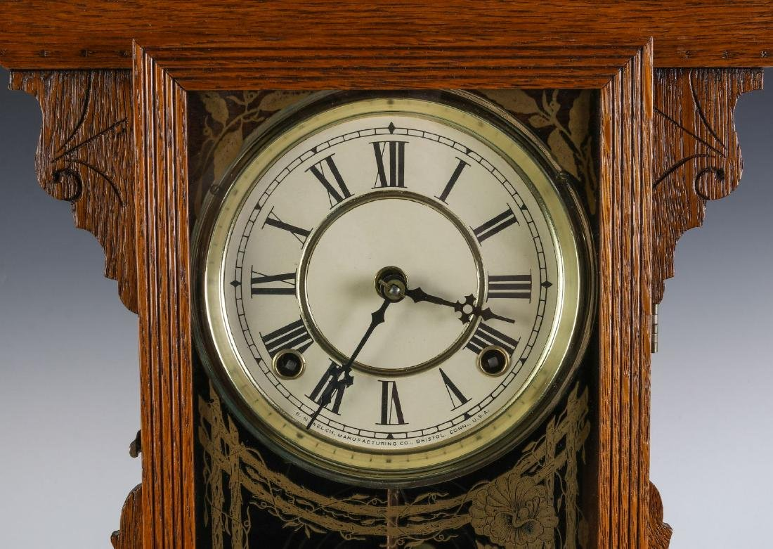 A KITCHEN GINGERBREAD CLOCK ATTRIBUTED E.N. WELCH - 3