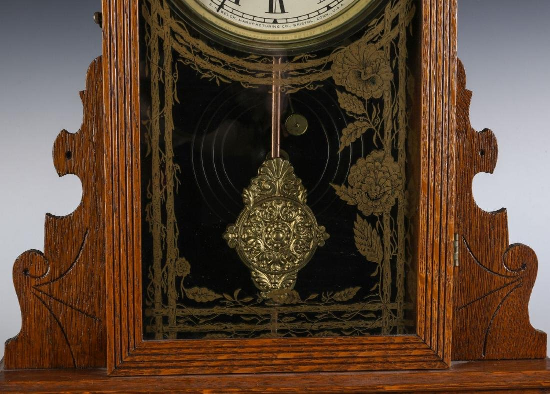 A KITCHEN GINGERBREAD CLOCK ATTRIBUTED E.N. WELCH - 4