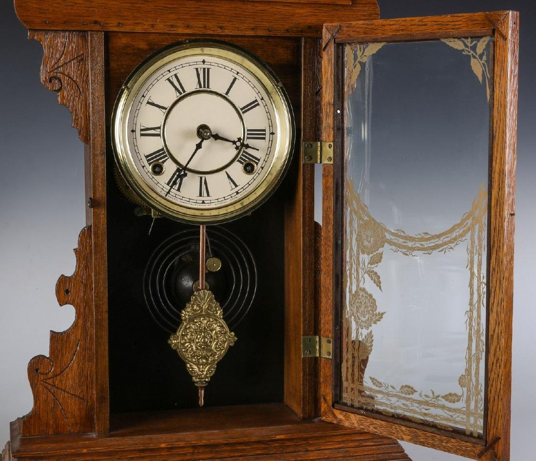 A KITCHEN GINGERBREAD CLOCK ATTRIBUTED E.N. WELCH - 6