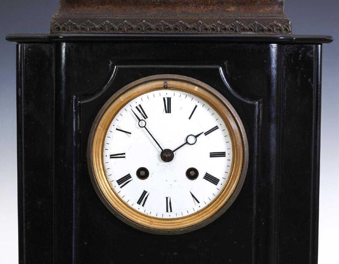 A 19TH C. FRENCH STATUE CLOCK, MOVEMENT SIGNED MARTI - 4