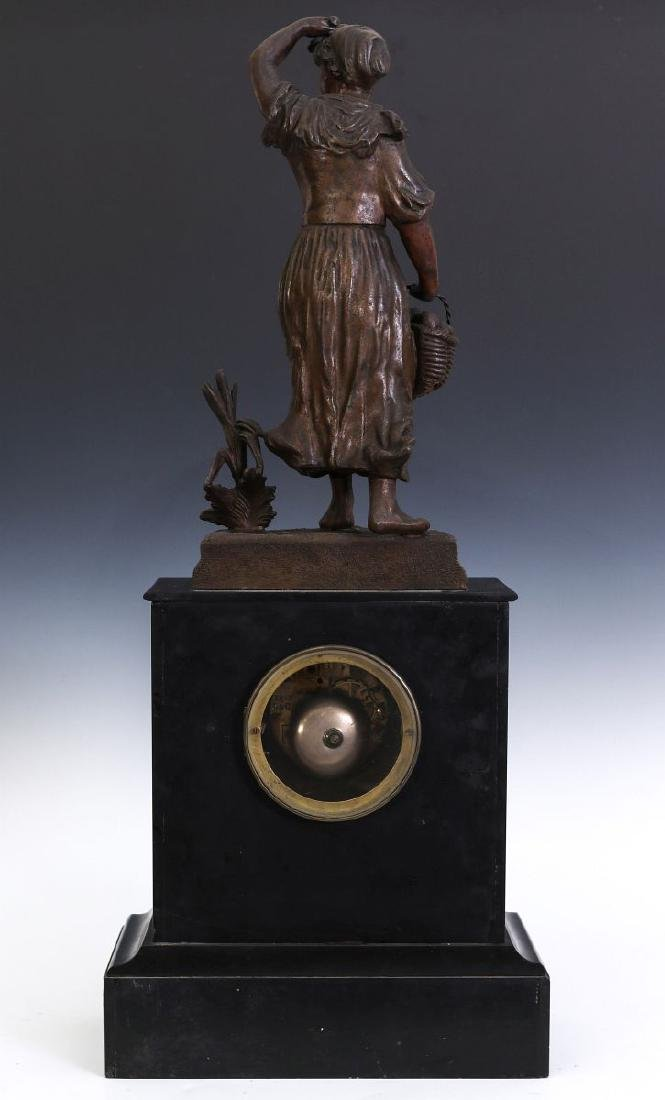 A 19TH C. FRENCH STATUE CLOCK, MOVEMENT SIGNED MARTI - 9