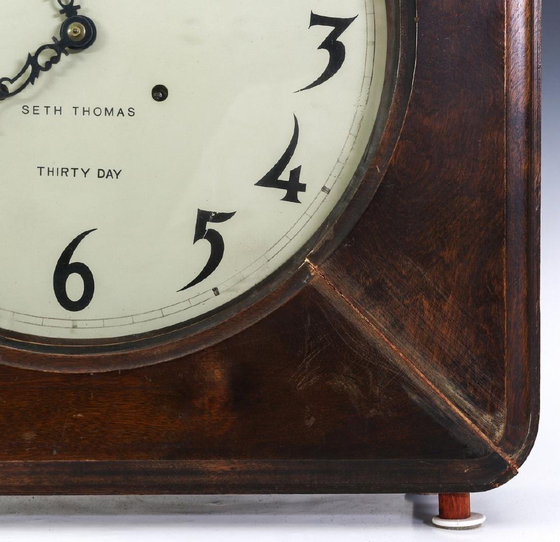 A SETH THOMAS OFFICE MODEL GALLERY CLOCK - 4