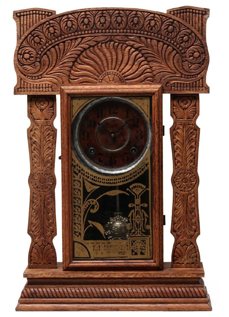 AN INGRAHAM FANCY GINGERBREAD KITCHEN CLOCK