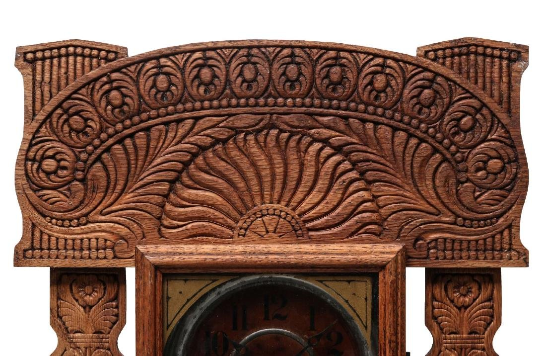 AN INGRAHAM FANCY GINGERBREAD KITCHEN CLOCK - 2