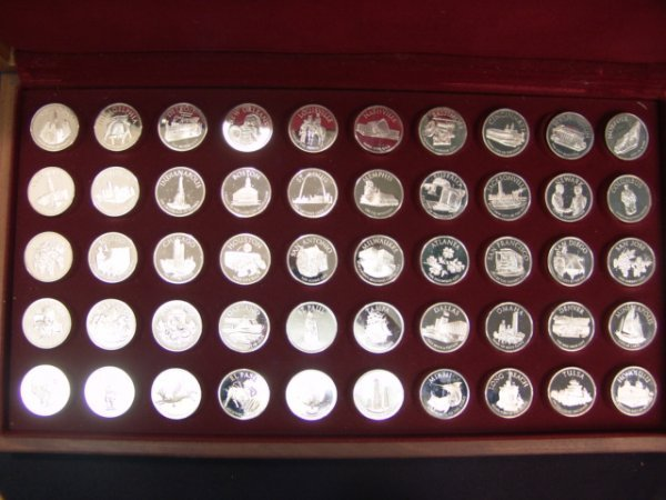 504: FRANKLIN MINT CONFERENCE OF MAYORS MEDALS 50 STERL