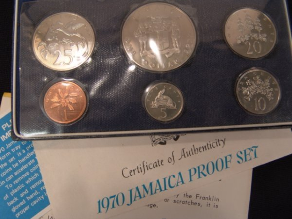 508: SIX 1970 FRANKLIN MINT STERLING SILVER JAMAICA PRO