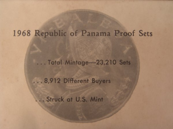 510: TOTAL OF EIGHT PANAMA PROOF SETS FRANKLIN MINT SIL