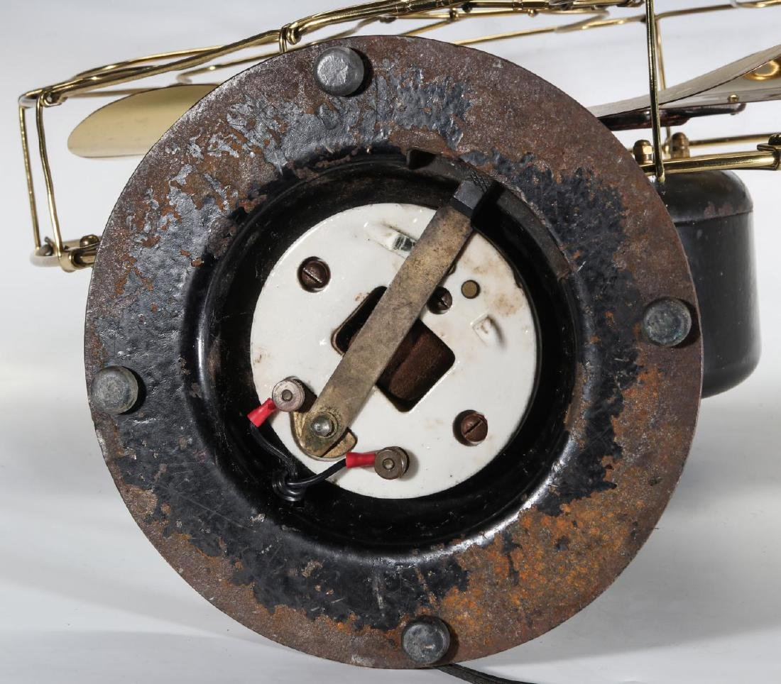 AN EMERSON INDUCTION MOTOR BRASS BLADE FAN C. 1900 - 10