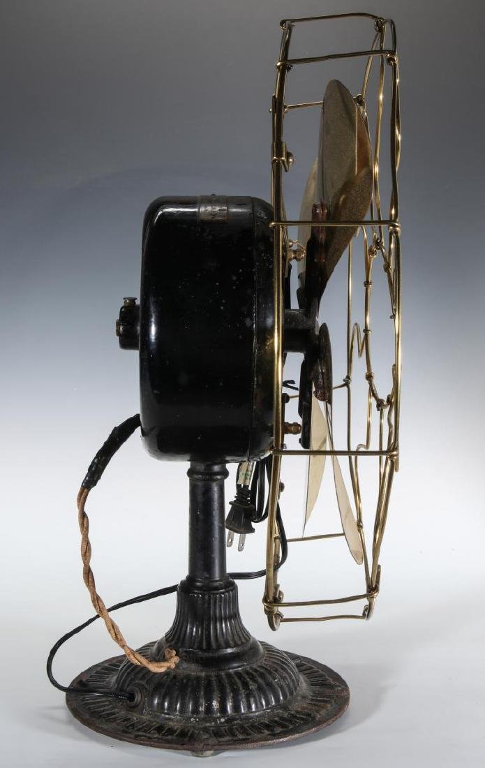 AN EMERSON INDUCTION MOTOR BRASS BLADE FAN C. 1900 - 4