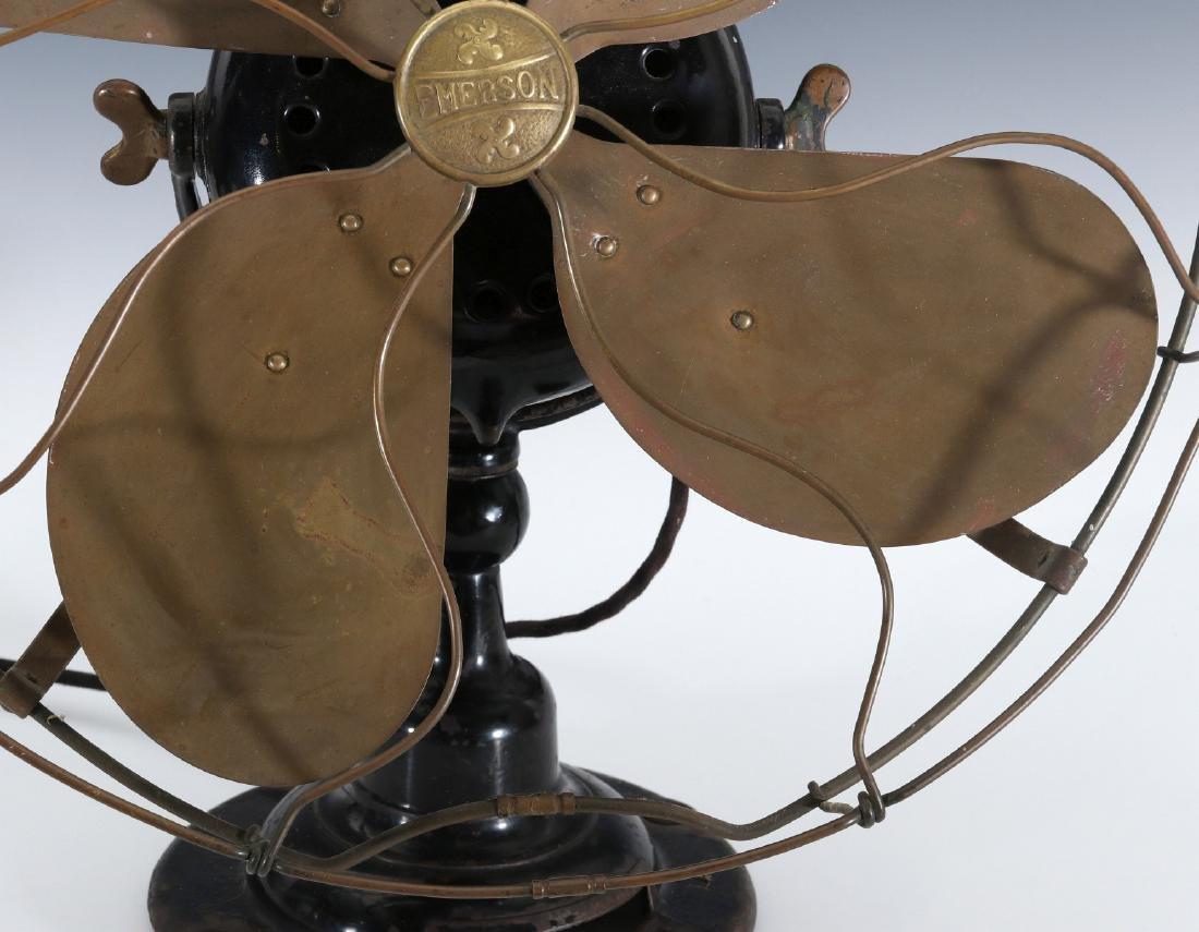 AN EMERSON ELECTRIC TABLE FAN WITH YOKE CIRCA 1912 - 3
