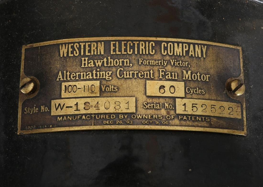 WESTERN ELECTRIC HAWTHORN VICTOR FAN, CIRCA 1906 - 9