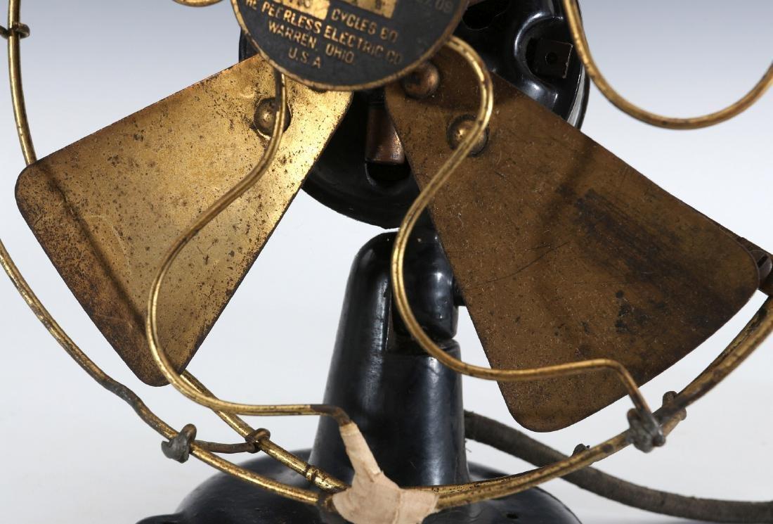 A PEERLESS TAB-FOOT ELECTRIC FAN CIRCA 1909 - 3