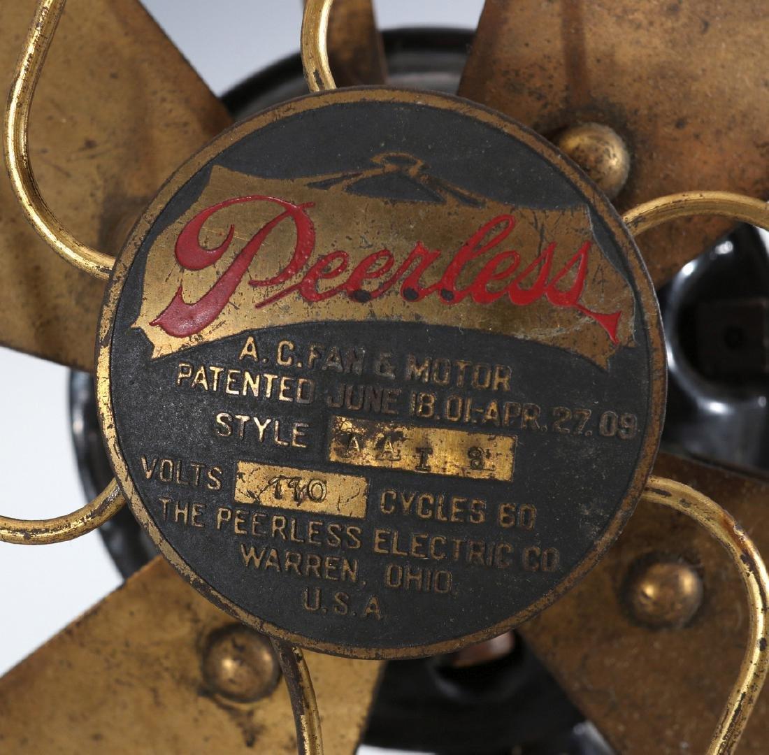 A PEERLESS TAB-FOOT ELECTRIC FAN CIRCA 1909 - 4