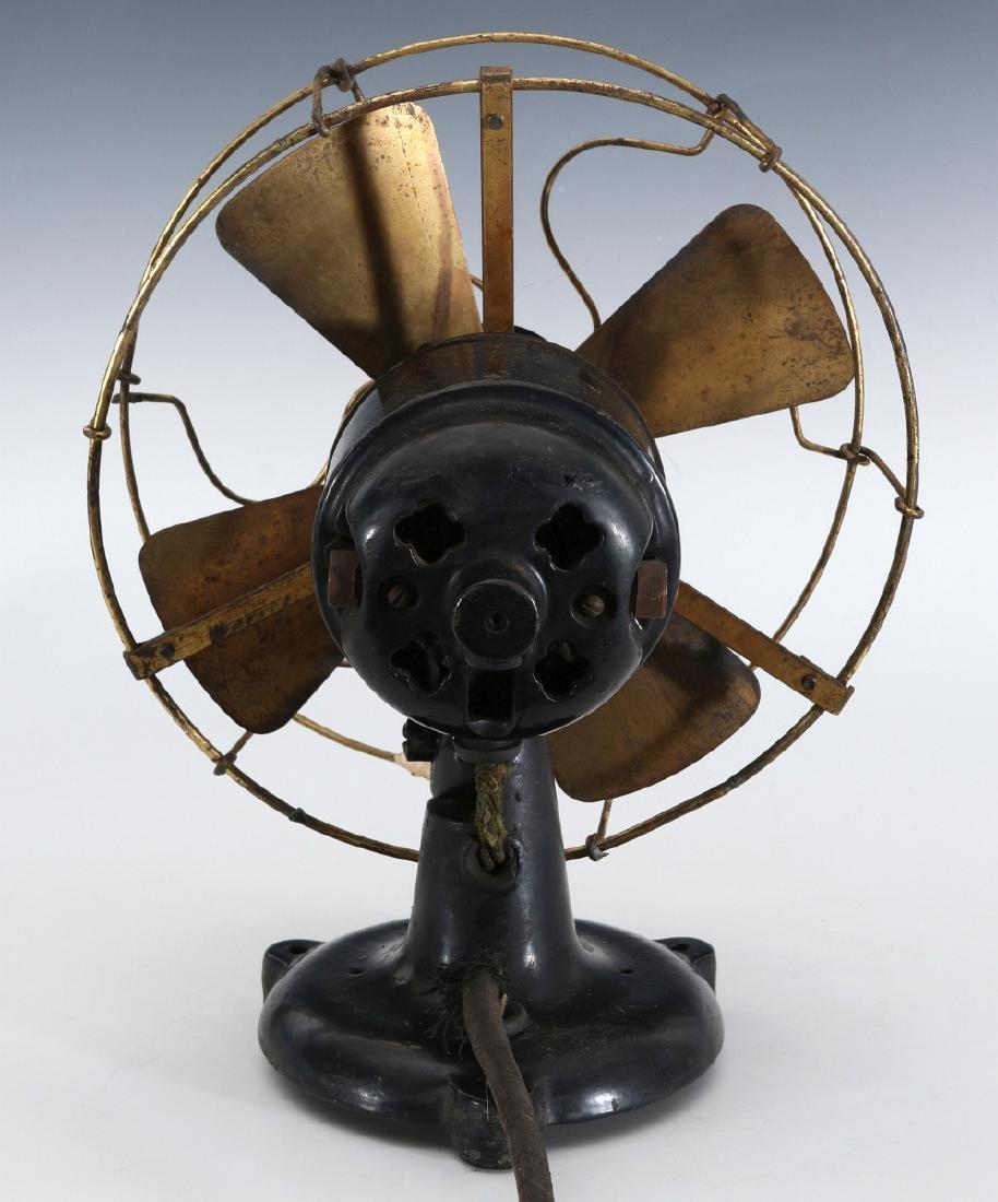 A PEERLESS TAB-FOOT ELECTRIC FAN CIRCA 1909 - 7