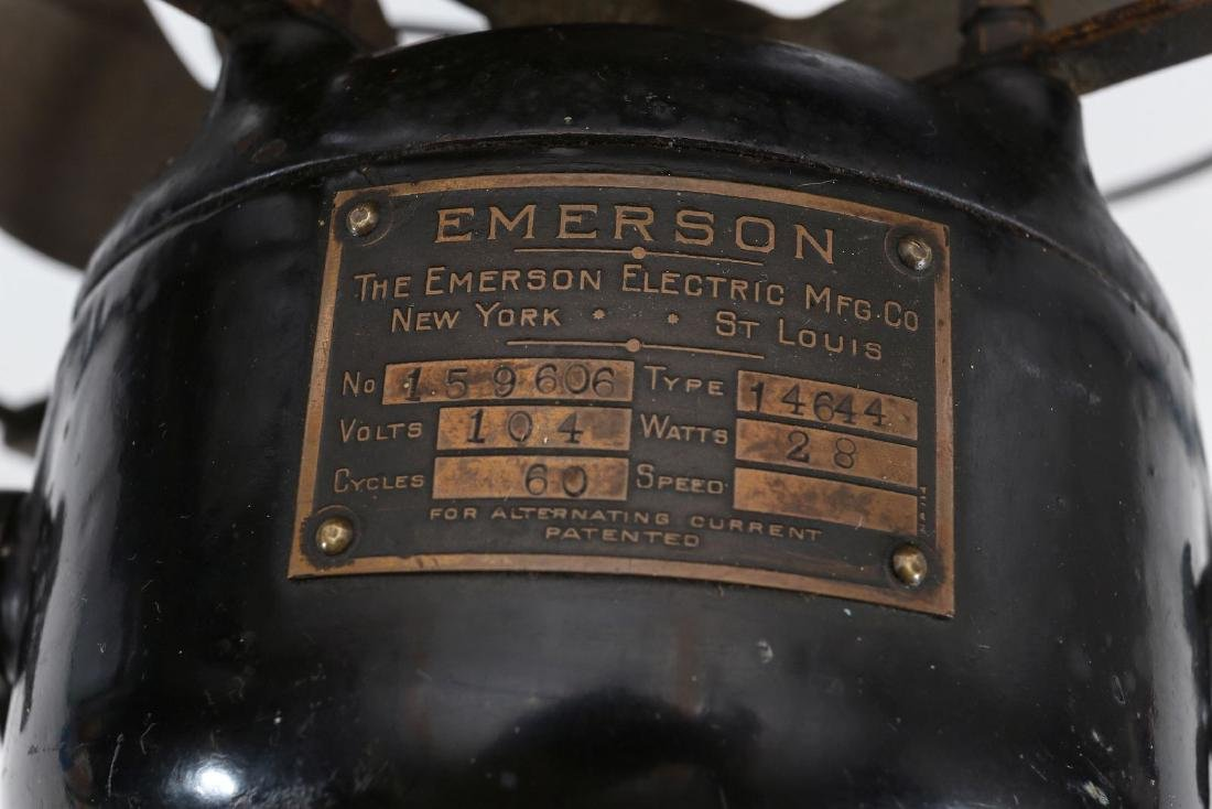 AN EMERSON 8-INCH STEP BASE YOKE FAN, CIRCA 1912 - 9