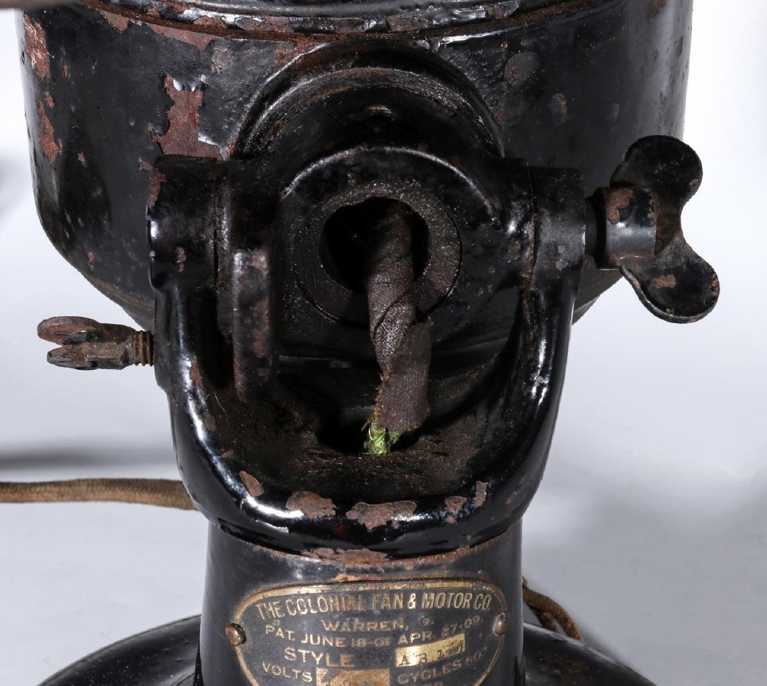 A COLONIAL BRAND TAB FOOT ELECTRIC FAN CIRCA 1910 - 4
