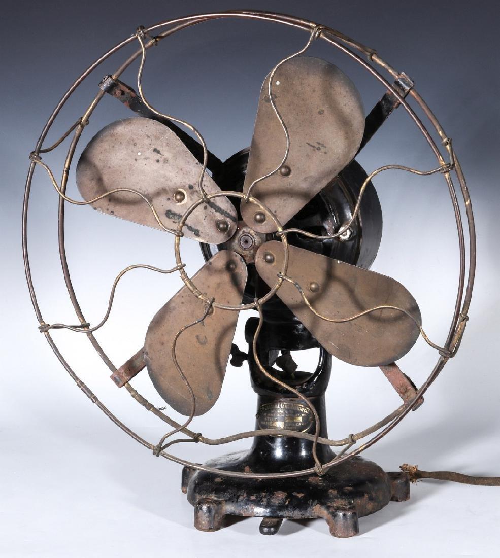 A COLONIAL BRAND TAB FOOT ELECTRIC FAN CIRCA 1910 - 6