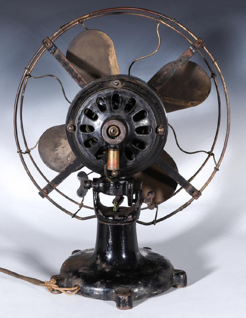 A COLONIAL BRAND TAB FOOT ELECTRIC FAN CIRCA 1910 - 8