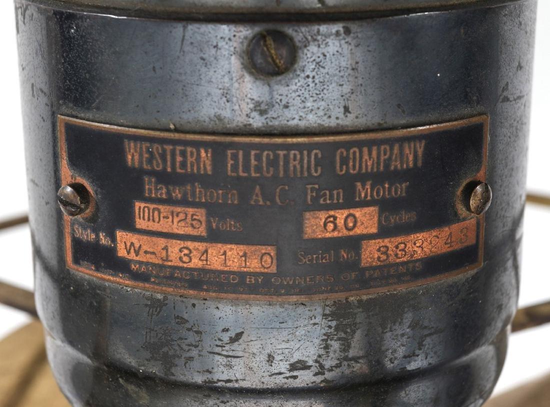A WESTERN ELECTRIC HAWTHORN ALL-BRASS FAN, C. 1904 - 10
