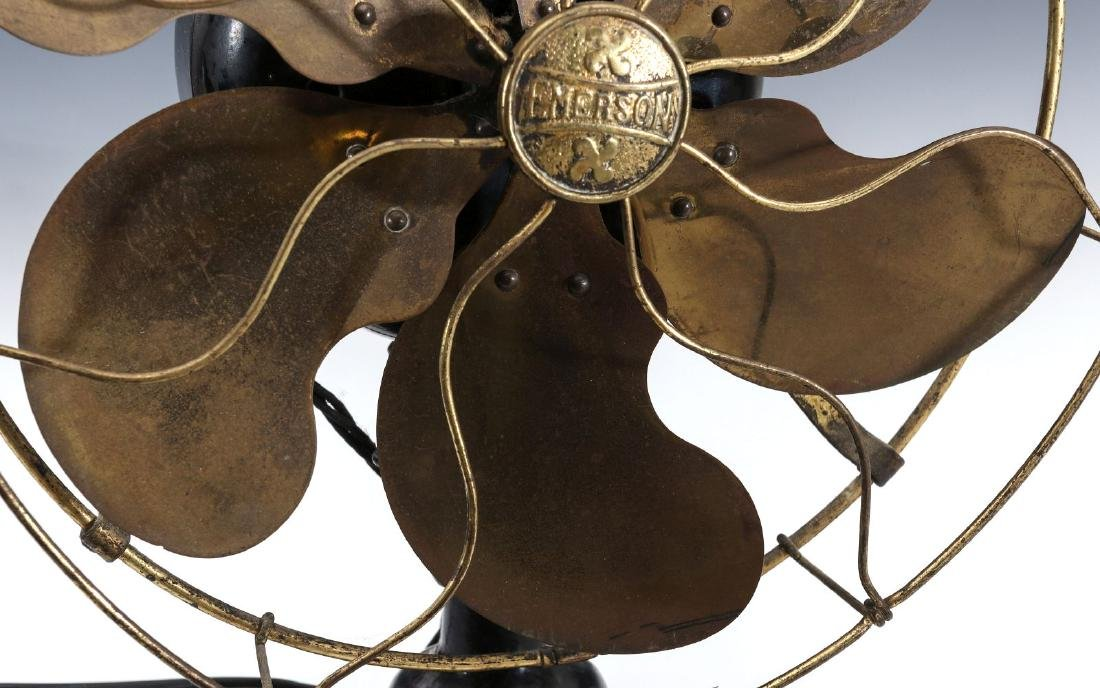 AN EMERSON STEP BASE SIX BLADE FAN CIRCA 1912 - 3