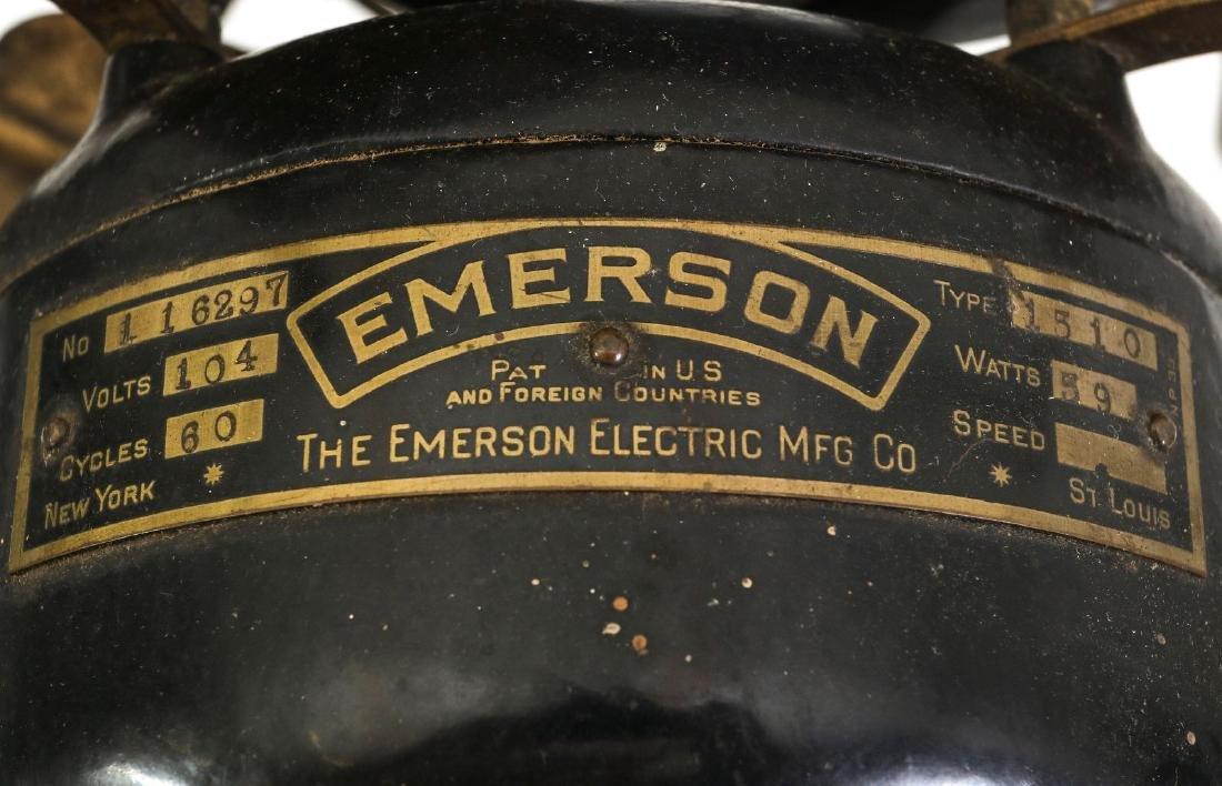 AN EMERSON RIBBED BASE & YOKE ELECTRIC FAN C. 1906 - 10