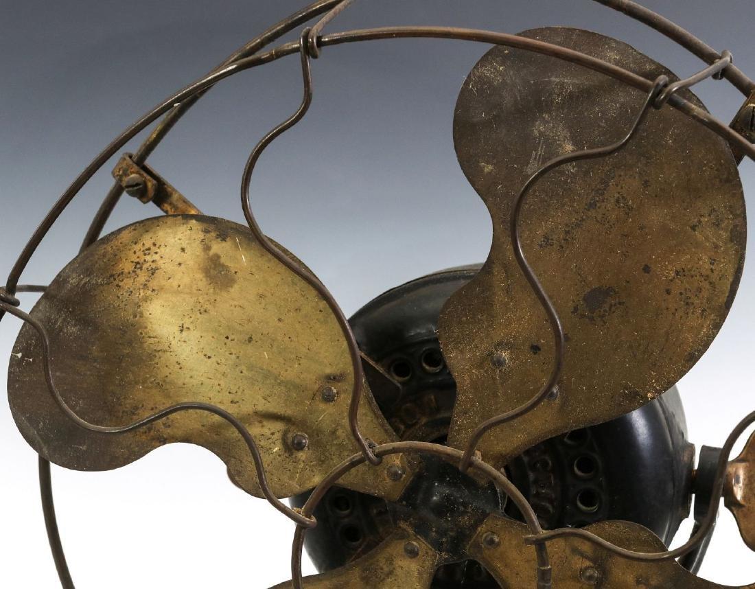AN EMERSON RIBBED BASE & YOKE ELECTRIC FAN C. 1906 - 2