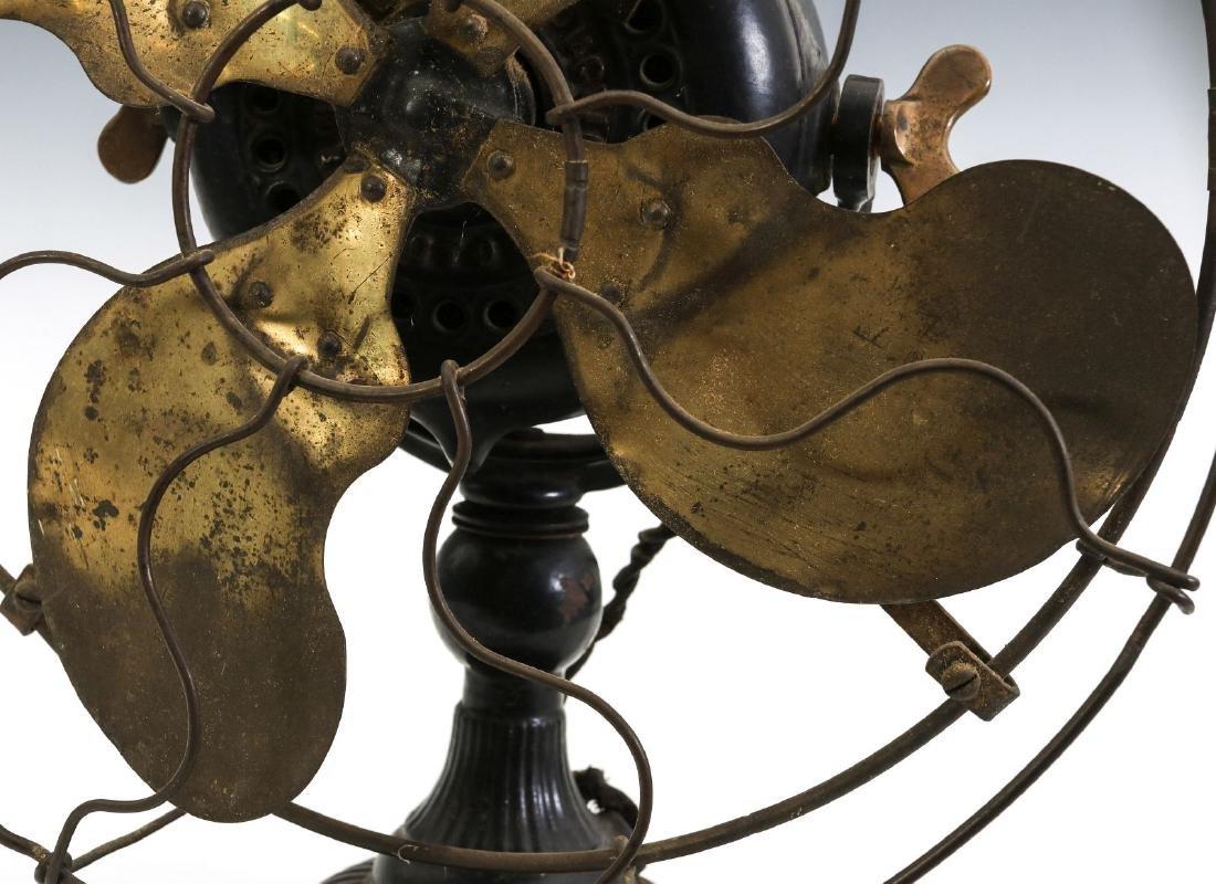 AN EMERSON RIBBED BASE & YOKE ELECTRIC FAN C. 1906 - 3