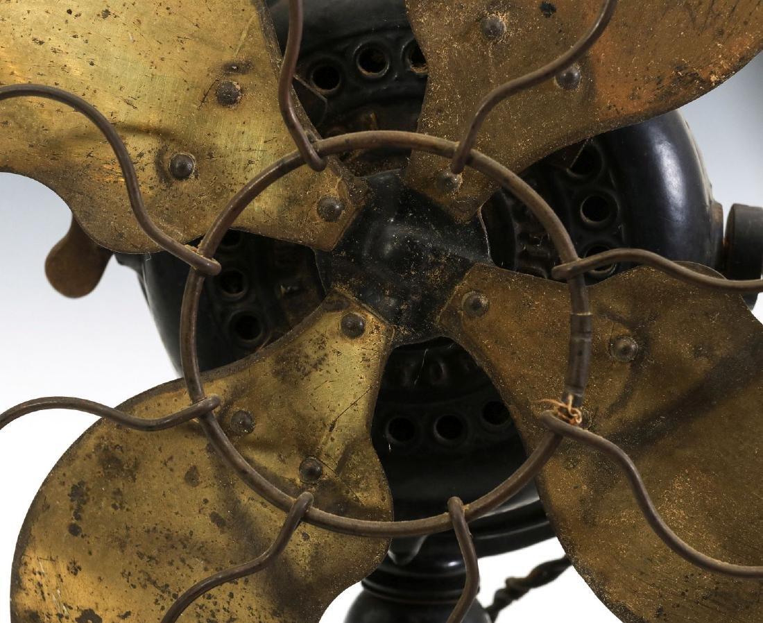 AN EMERSON RIBBED BASE & YOKE ELECTRIC FAN C. 1906 - 4