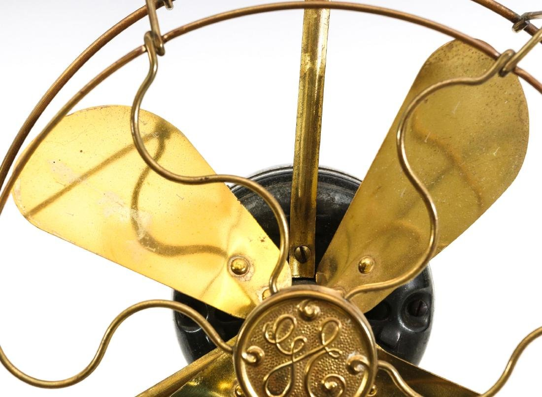 A GENERAL ELECTRIC 8-INCH ALL BRASS FAN, C. 1901 - 2