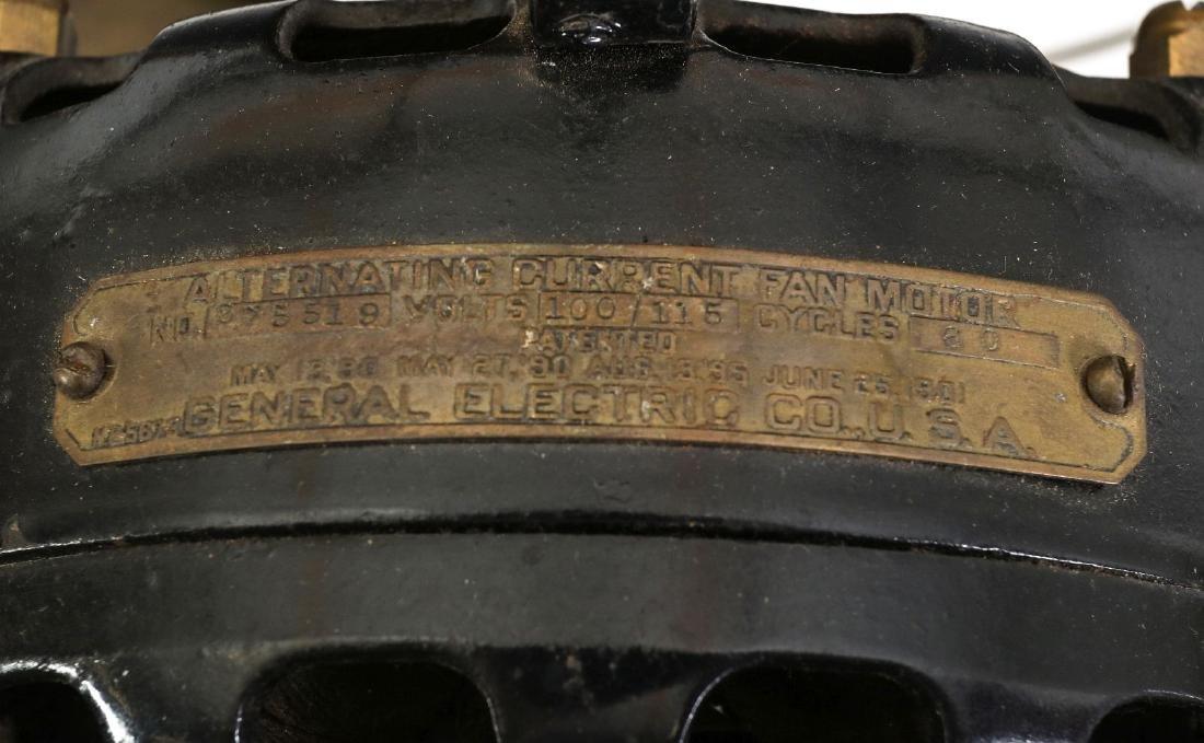 A GENERAL ELECTRIC PANCAKE MOTOR YOKE FAN, C. 1901 - 10