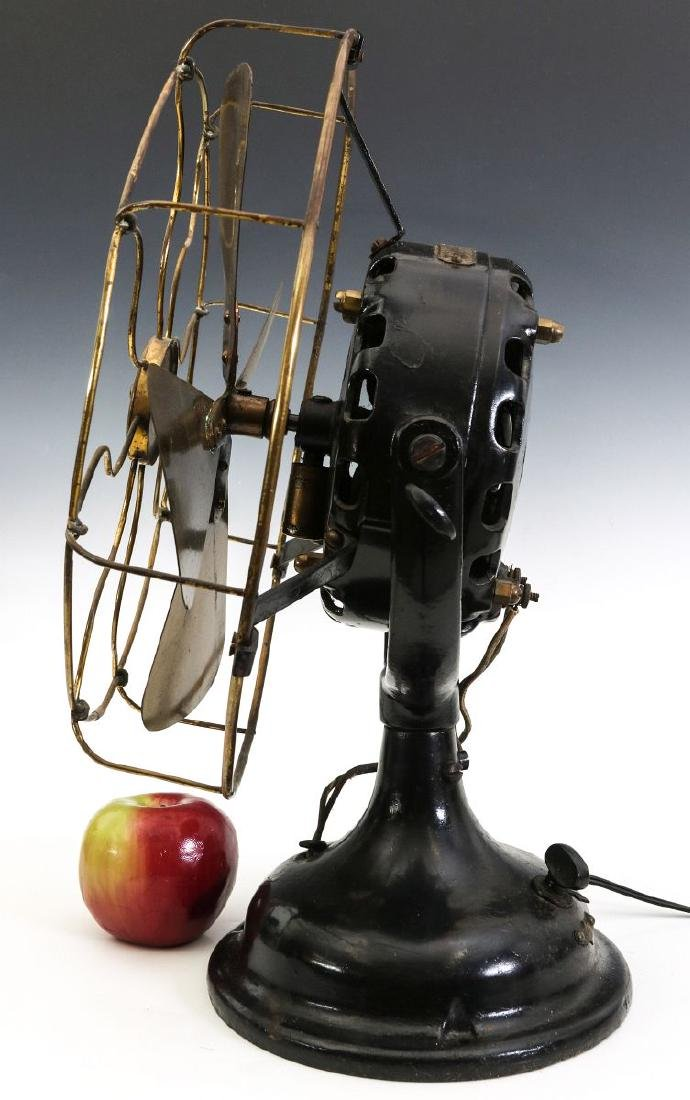 A GENERAL ELECTRIC PANCAKE MOTOR YOKE FAN, C. 1901 - 5